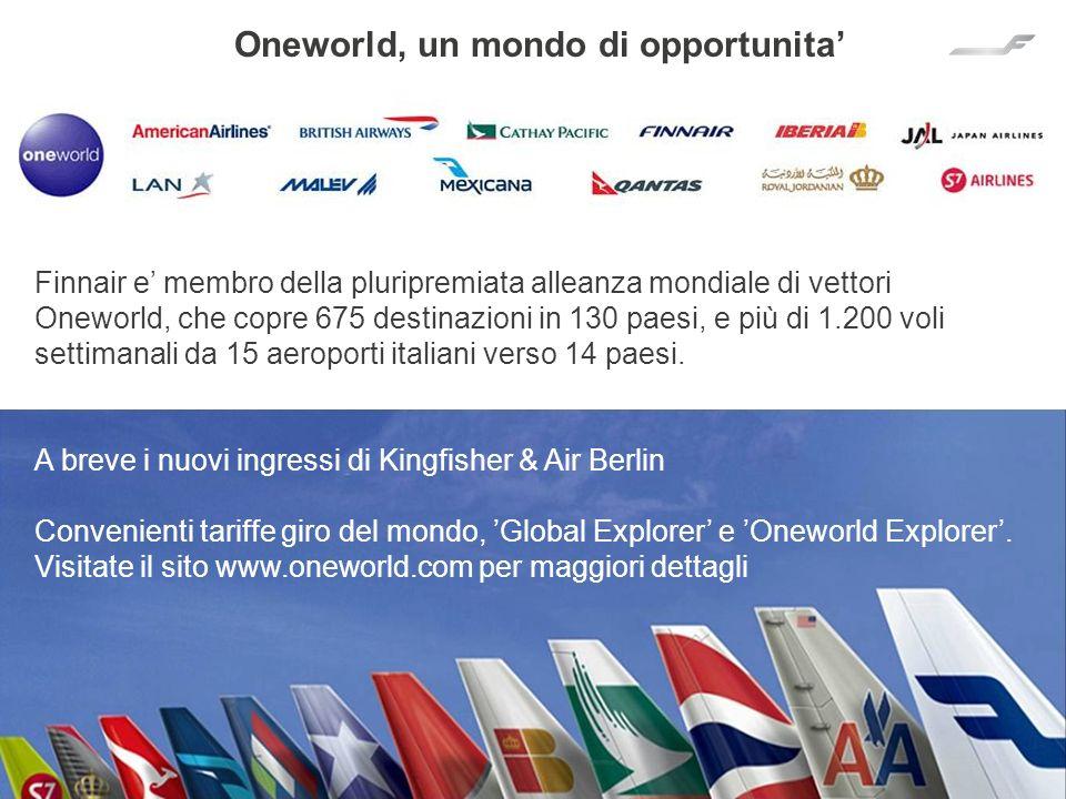 Oneworld, un mondo di opportunita'