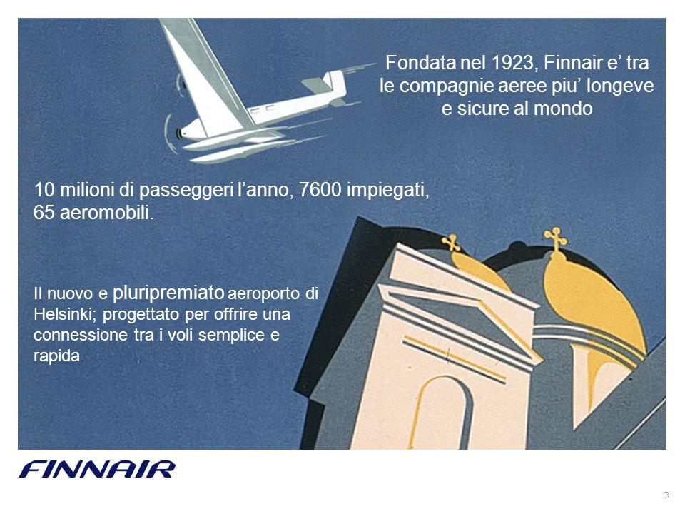10 milioni di passeggeri l'anno, 7600 impiegati, 65 aeromobili.