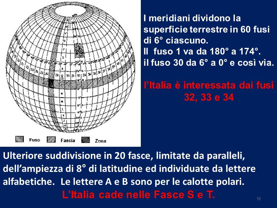 L'Italia cade nelle Fasce S e T.