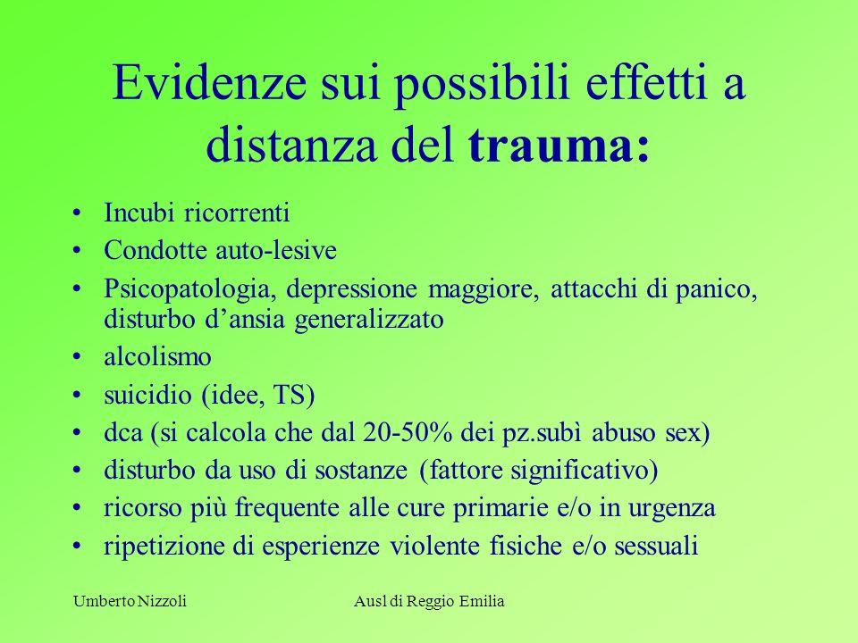Evidenze sui possibili effetti a distanza del trauma: