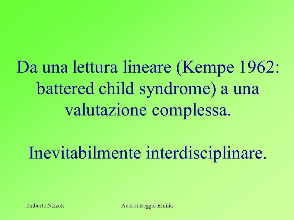 U. NizzoliU. Nizzoli. Da una lettura lineare (Kempe 1962: battered child syndrome) a una valutazione complessa. Inevitabilmente interdisciplinare.