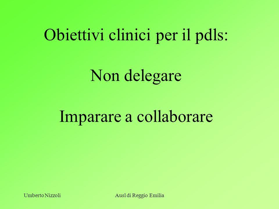 Obiettivi clinici per il pdls: Non delegare Imparare a collaborare