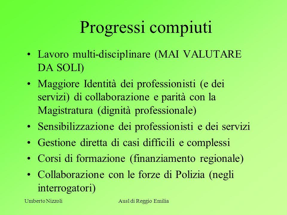 Progressi compiuti Lavoro multi-disciplinare (MAI VALUTARE DA SOLI)