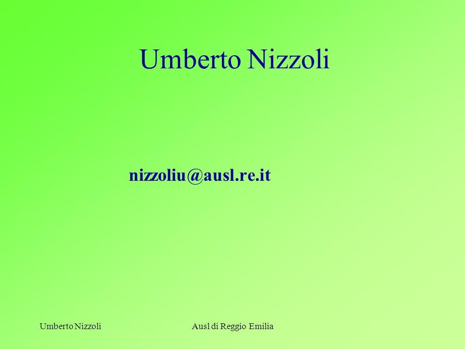 Umberto Nizzoli nizzoliu@ausl.re.it Umberto Nizzoli