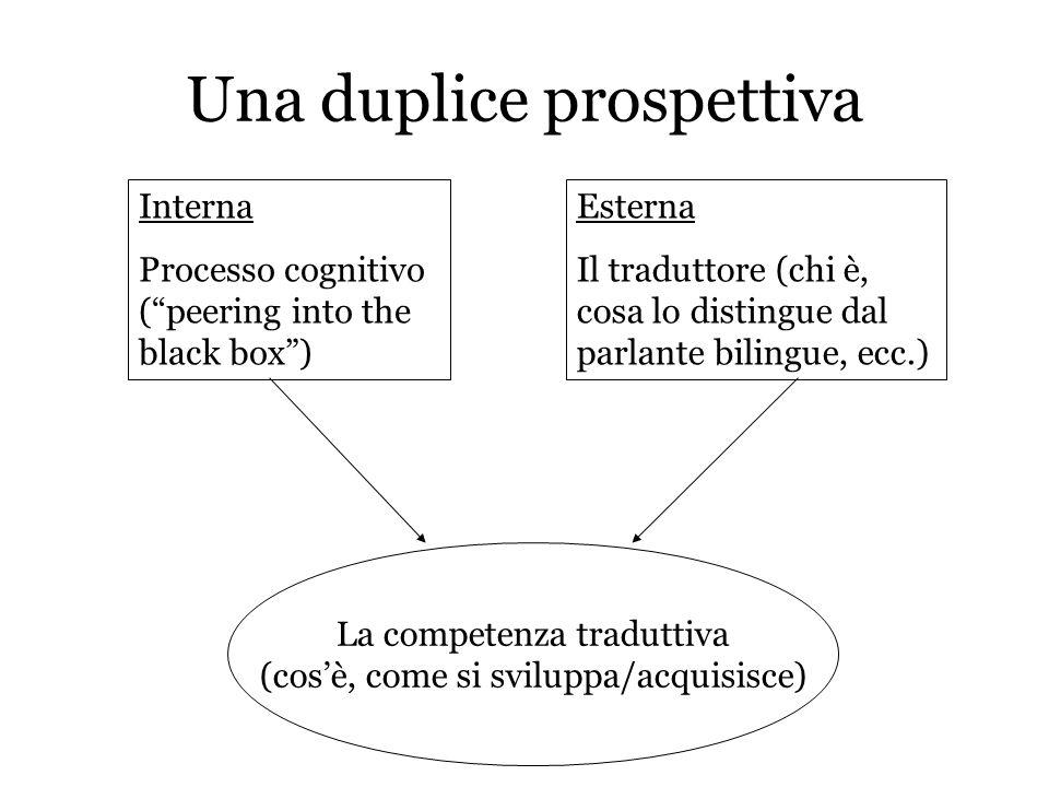 Una duplice prospettiva