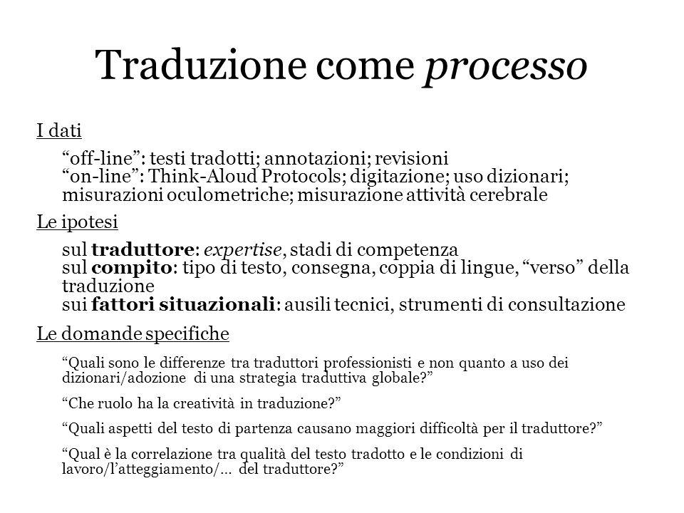 Traduzione come processo