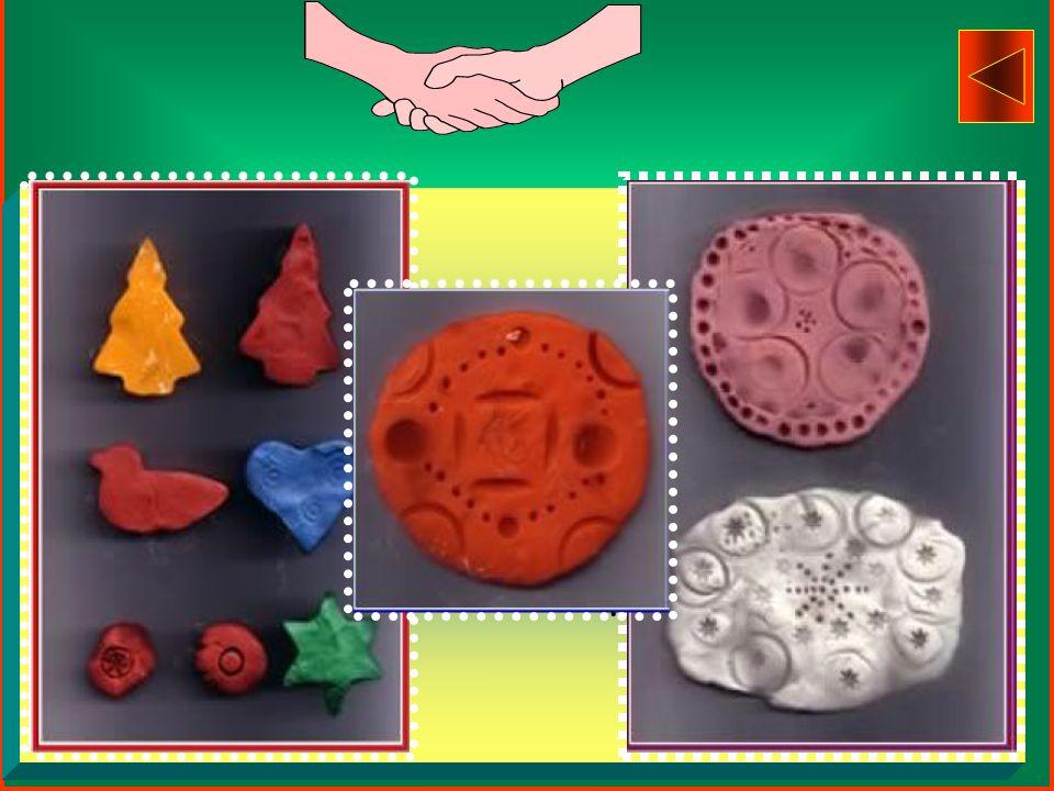 Uso della PLASTILINA sulla quale vengono impresse dita,