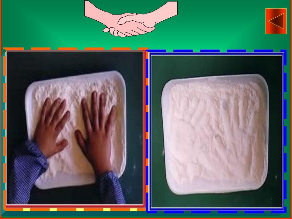 per realizzare impronte di mani ed oggetti vari,
