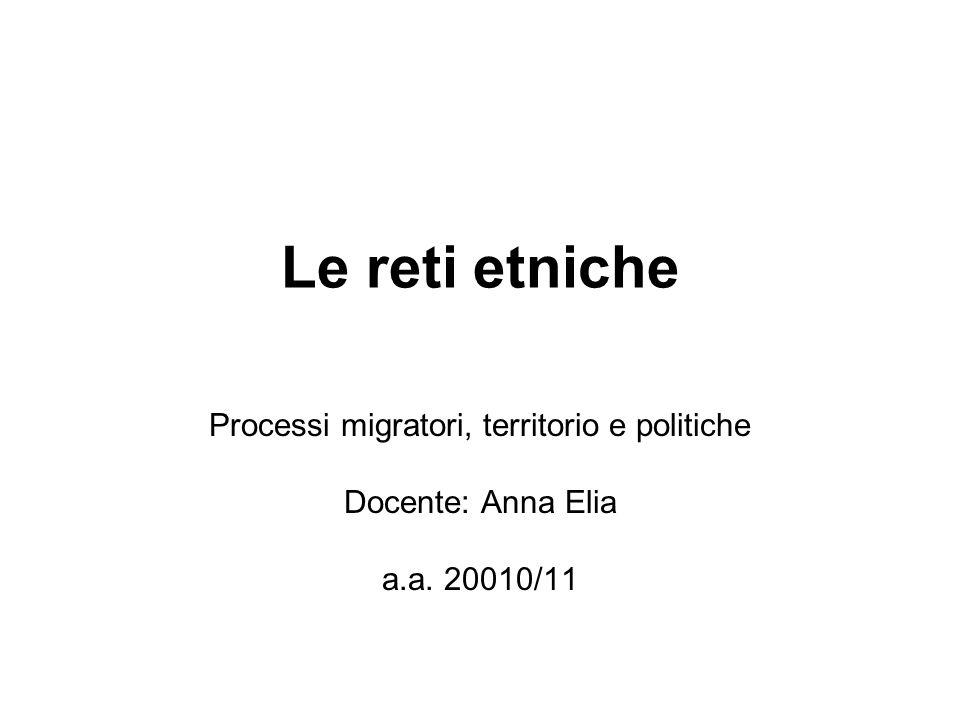 Processi migratori, territorio e politiche