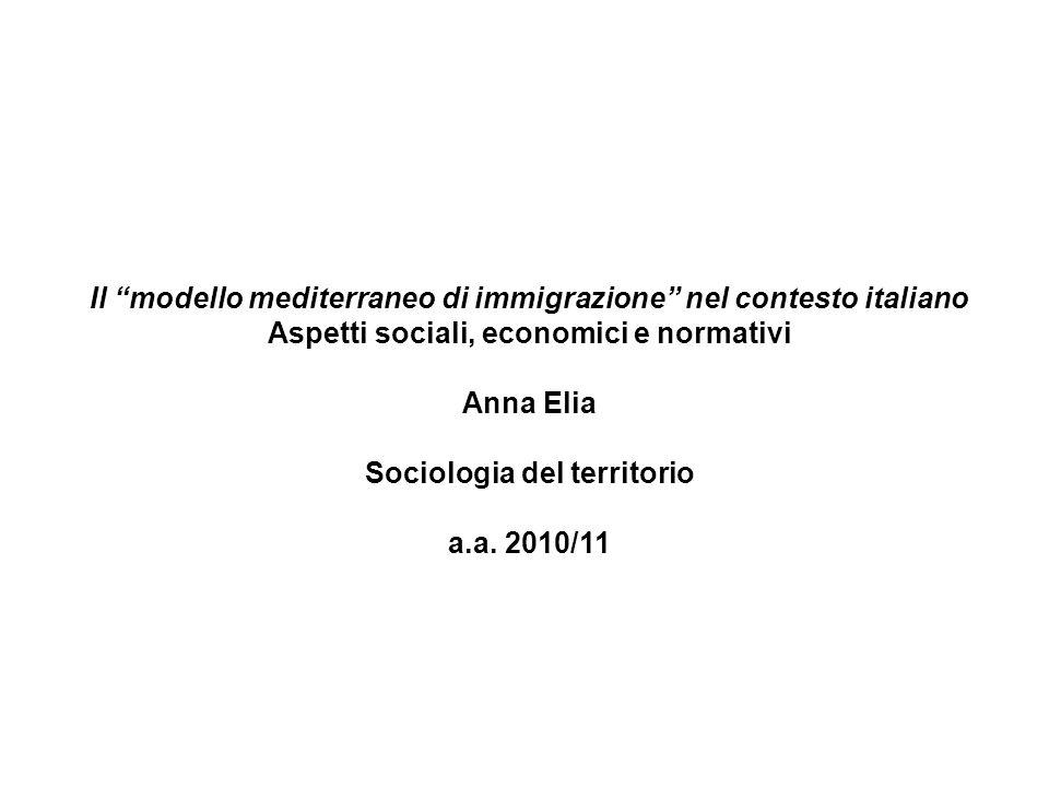 Il modello mediterraneo di immigrazione nel contesto italiano