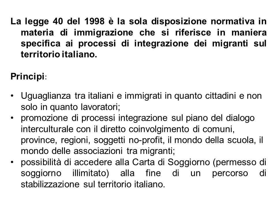 Il modello mediterraneo di immigrazione nel contesto for Quanto costa aggiornare la carta di soggiorno
