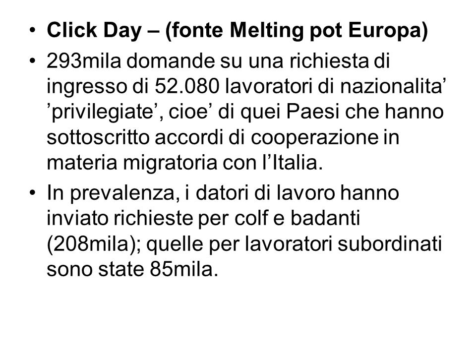 Click Day – (fonte Melting pot Europa)