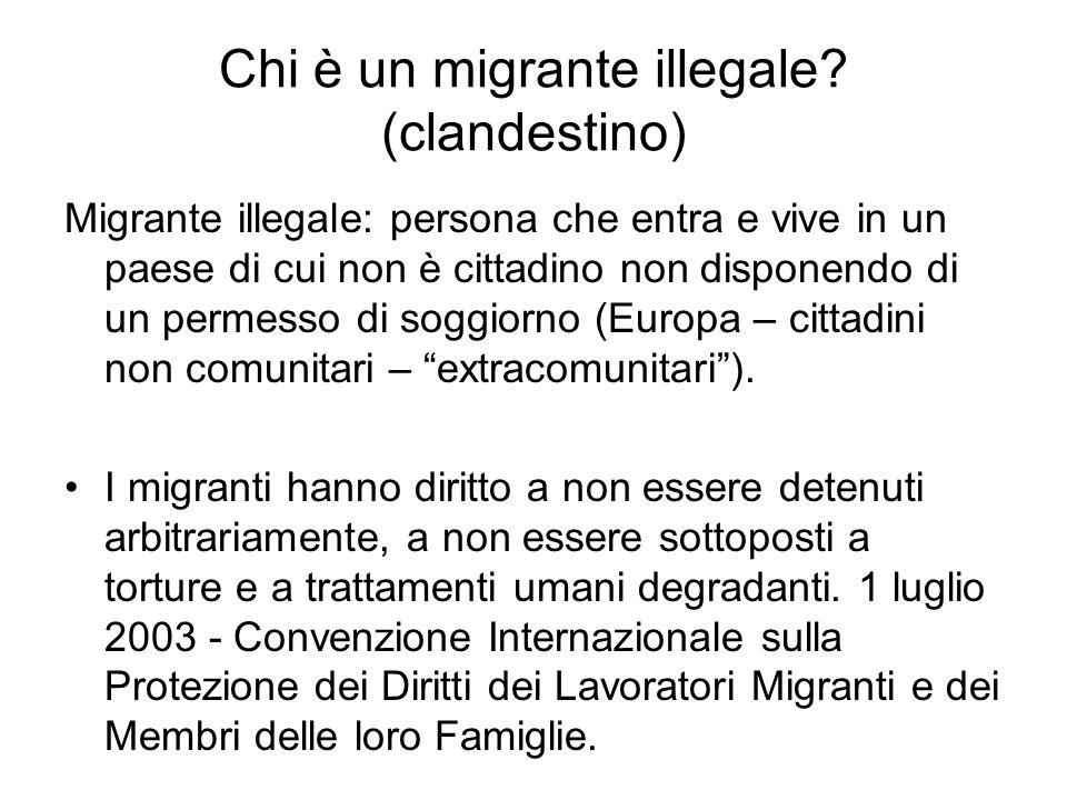 Chi è un migrante illegale (clandestino)