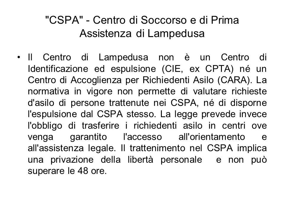 CSPA - Centro di Soccorso e di Prima Assistenza di Lampedusa