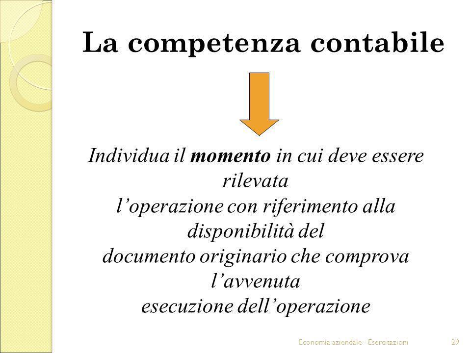 La competenza contabile