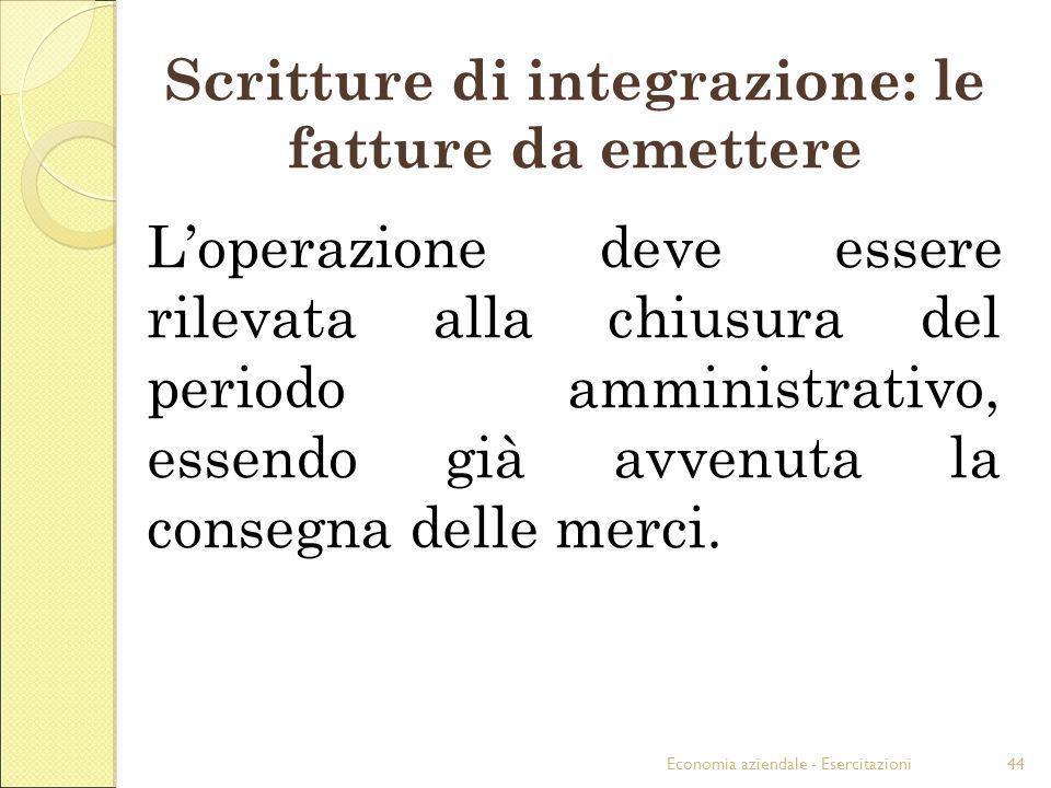 Scritture di integrazione: le fatture da emettere