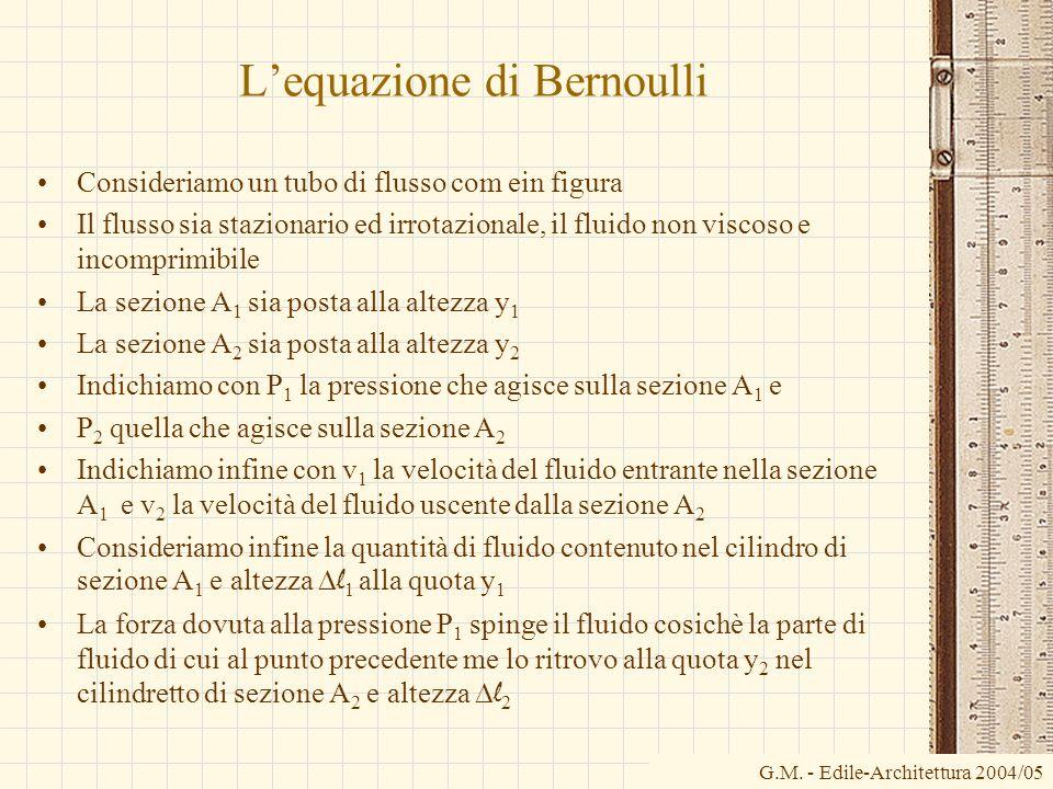 L'equazione di Bernoulli