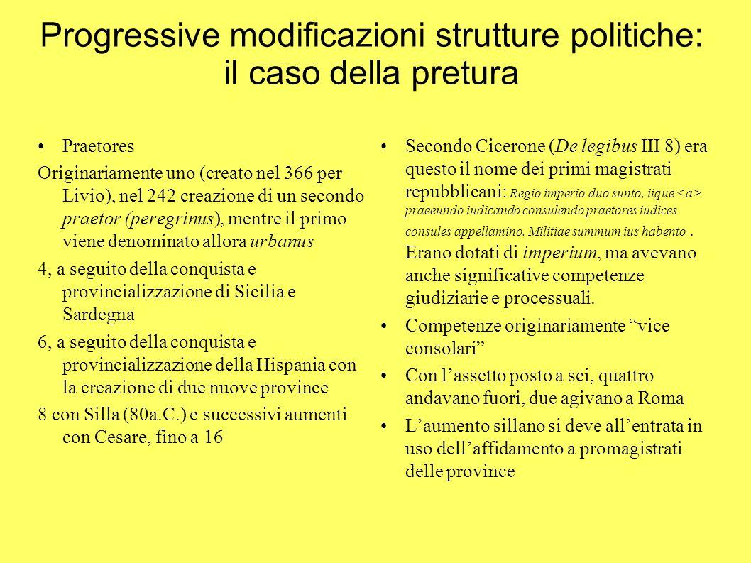 Progressive modificazioni strutture politiche: il caso della pretura