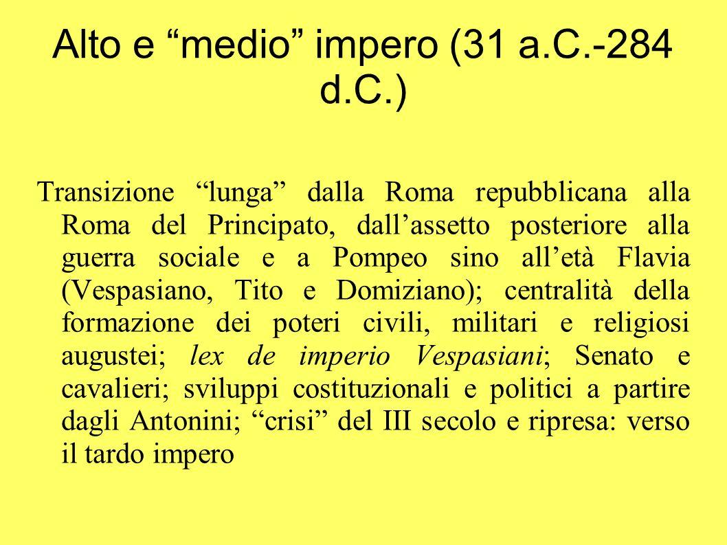 Alto e medio impero (31 a.C.-284 d.C.)