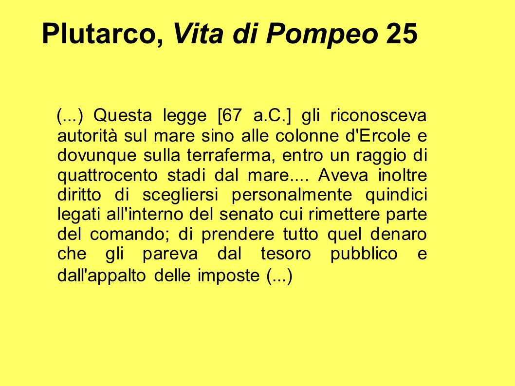 Plutarco, Vita di Pompeo 25