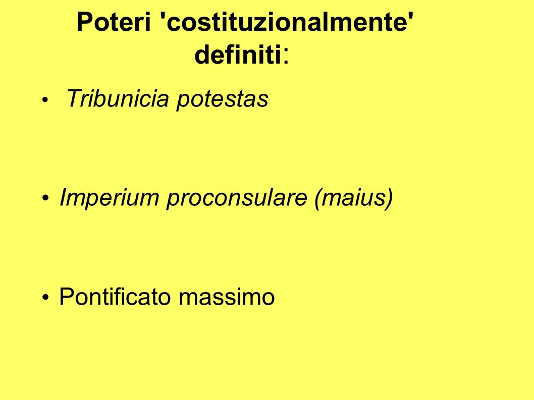 Poteri costituzionalmente definiti: