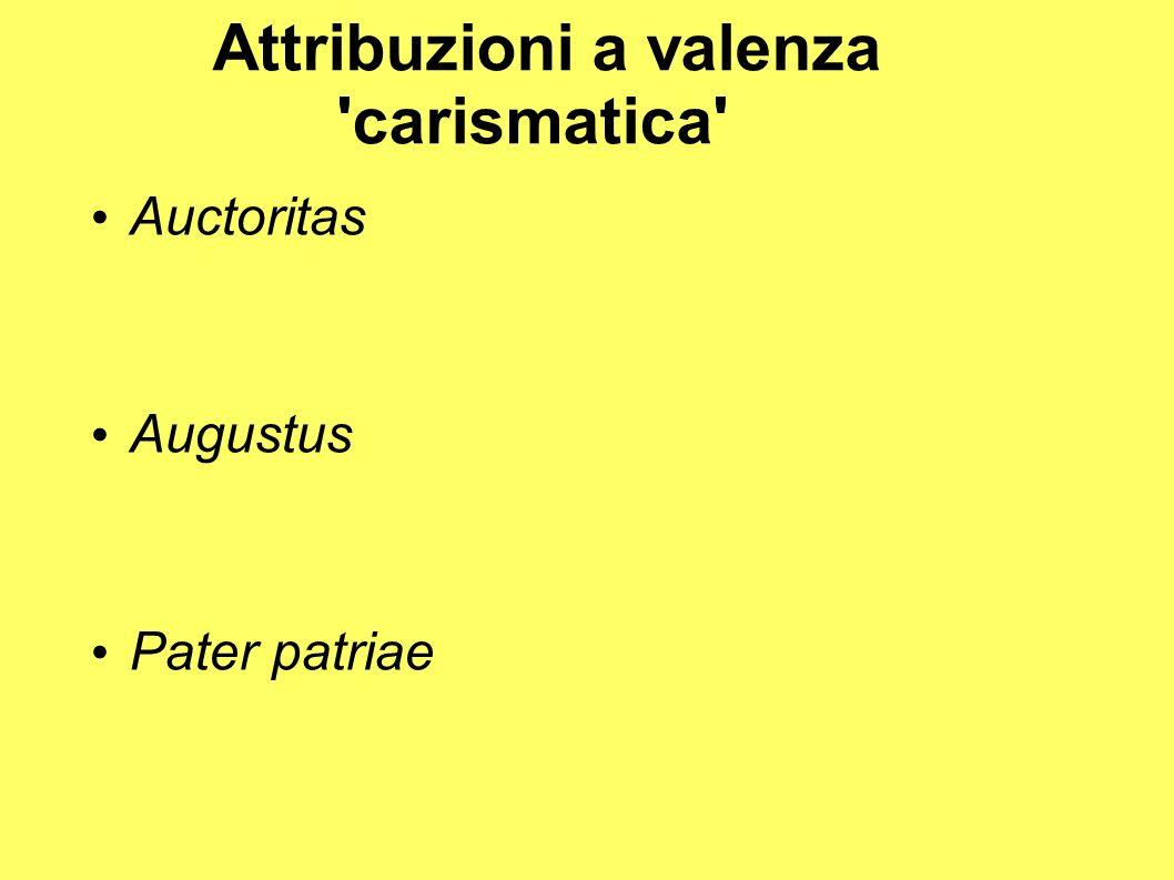 Attribuzioni a valenza carismatica