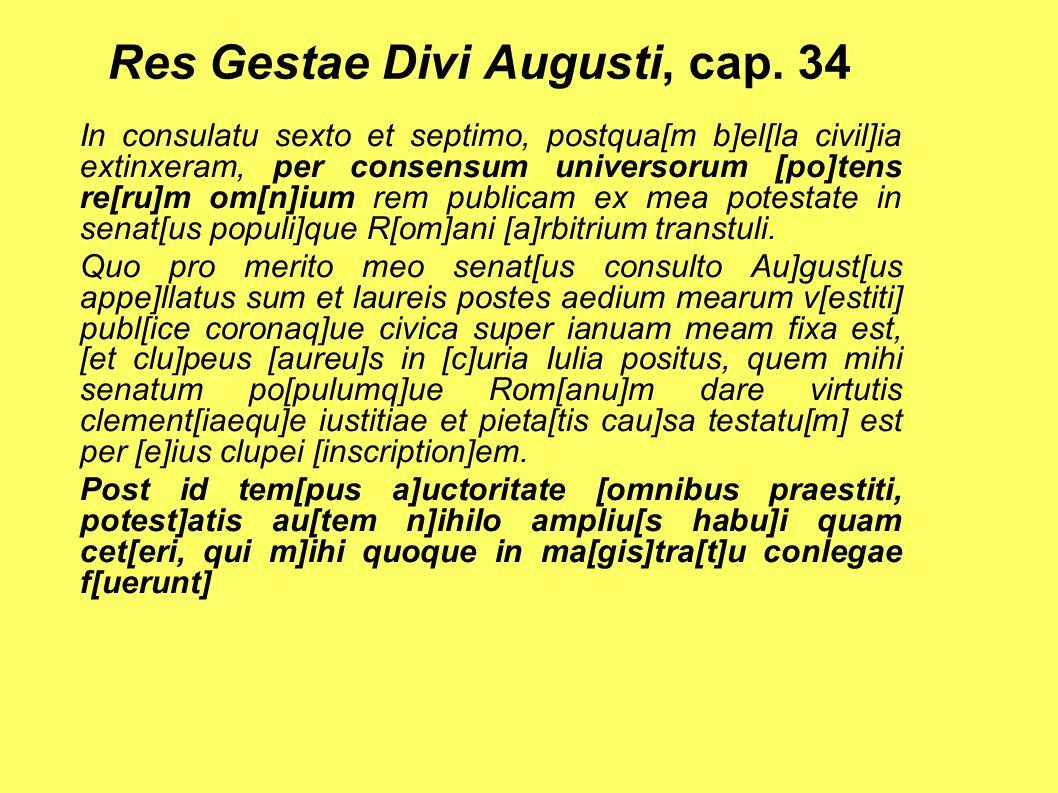 Res Gestae Divi Augusti, cap. 34