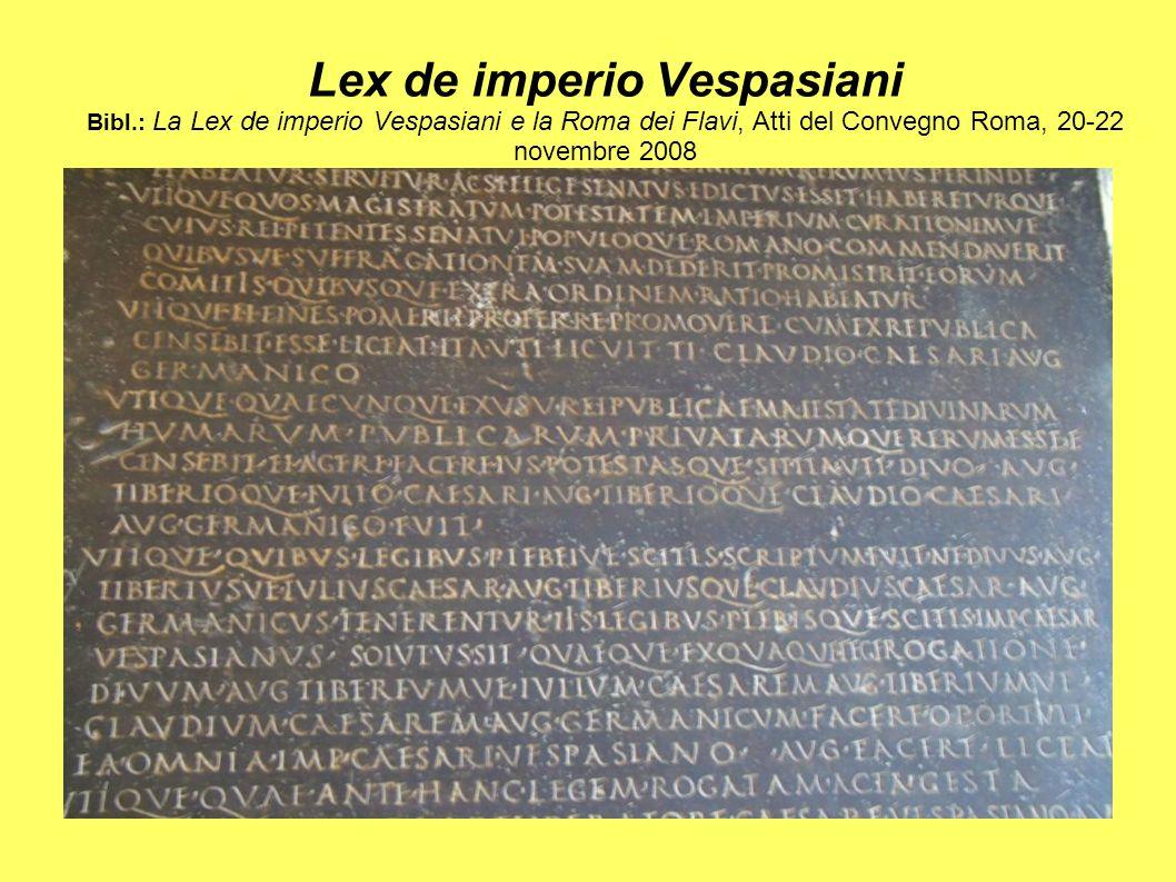 Lex de imperio Vespasiani Bibl