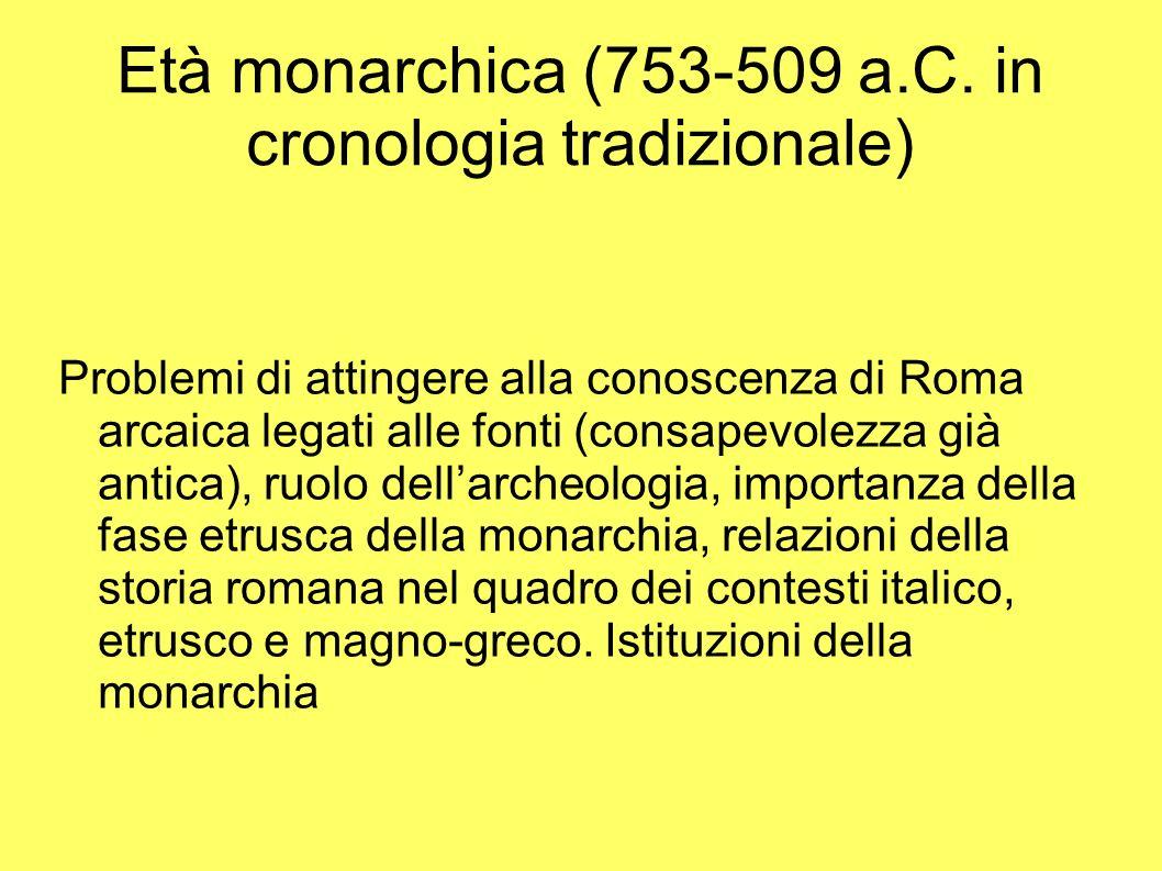 Età monarchica (753-509 a.C. in cronologia tradizionale)