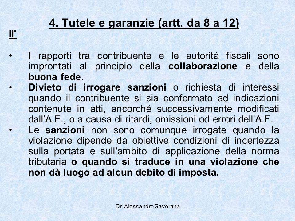 4. Tutele e garanzie (artt. da 8 a 12)