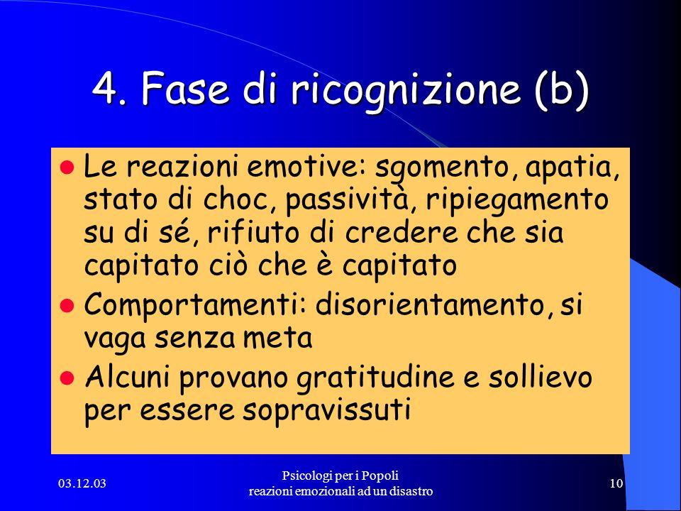 4. Fase di ricognizione (b)