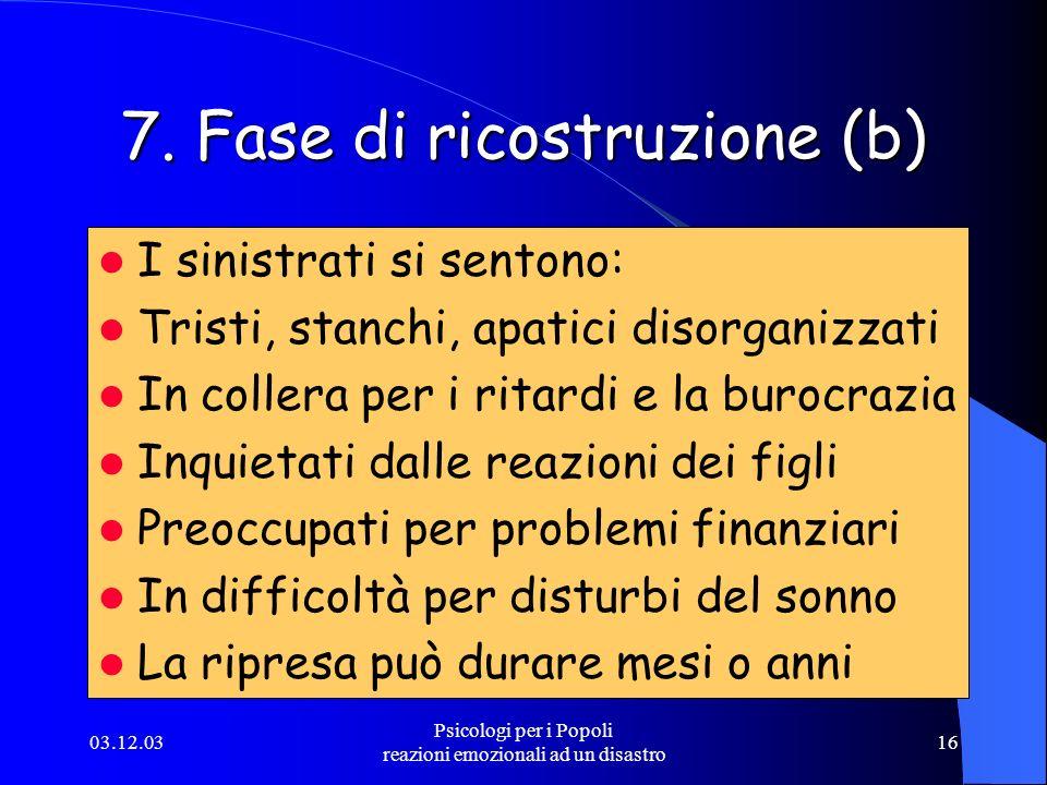 7. Fase di ricostruzione (b)