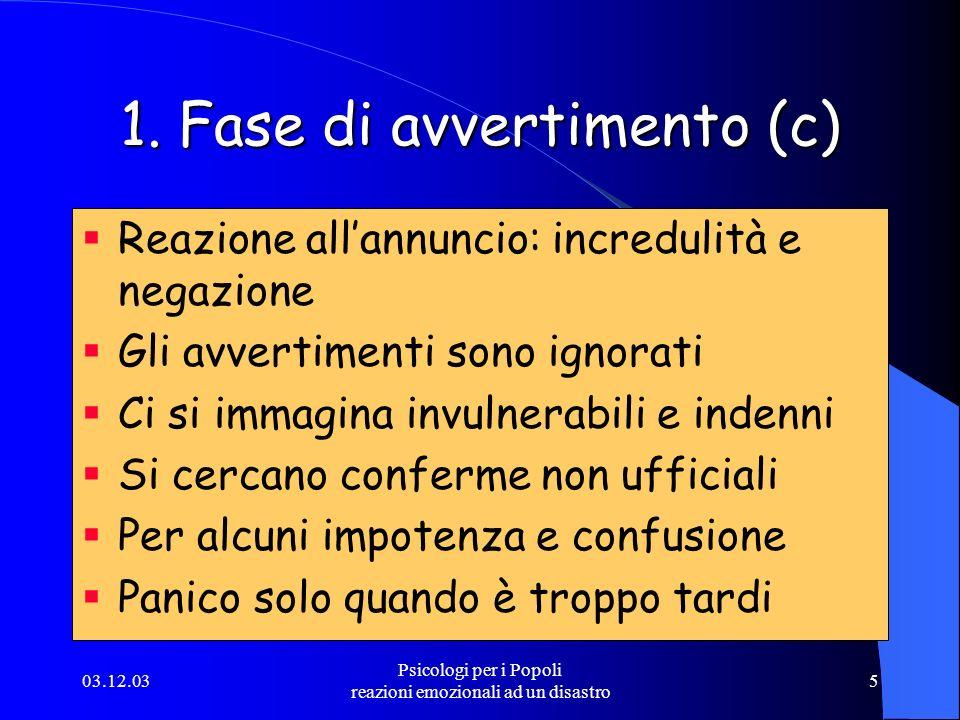 1. Fase di avvertimento (c)