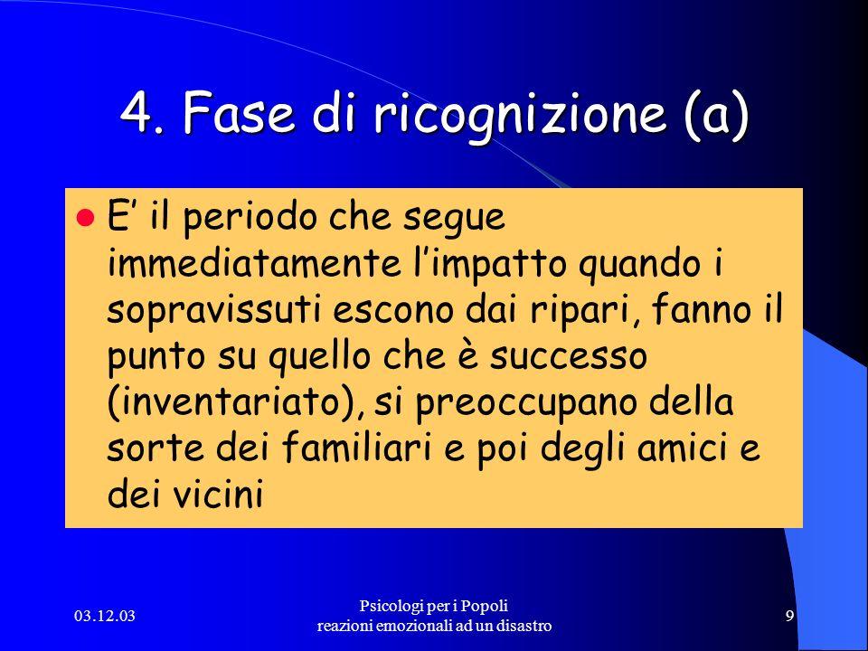 4. Fase di ricognizione (a)