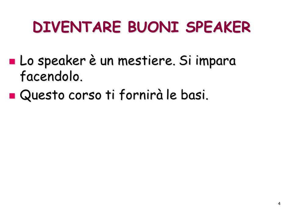 DIVENTARE BUONI SPEAKER