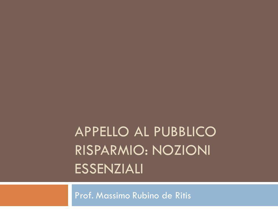 Appello al Pubblico Risparmio: nozioni essenziali