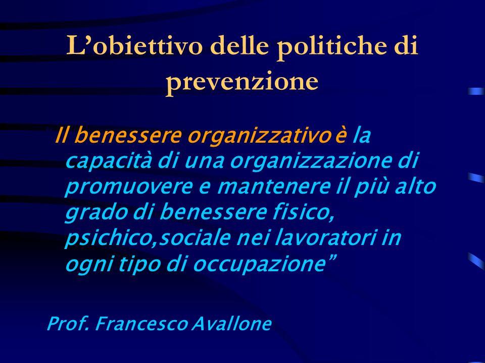 L'obiettivo delle politiche di prevenzione
