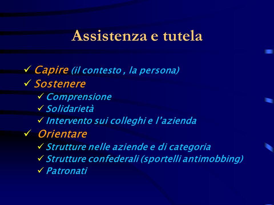 Assistenza e tutela Capire (il contesto , la persona) Sostenere