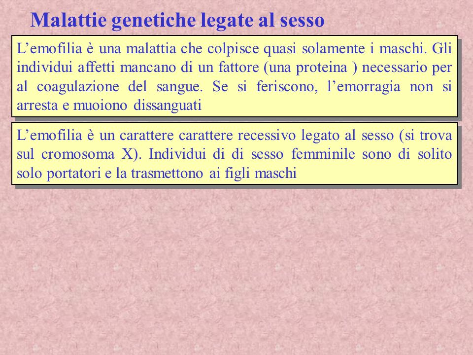 Malattie genetiche legate al sesso