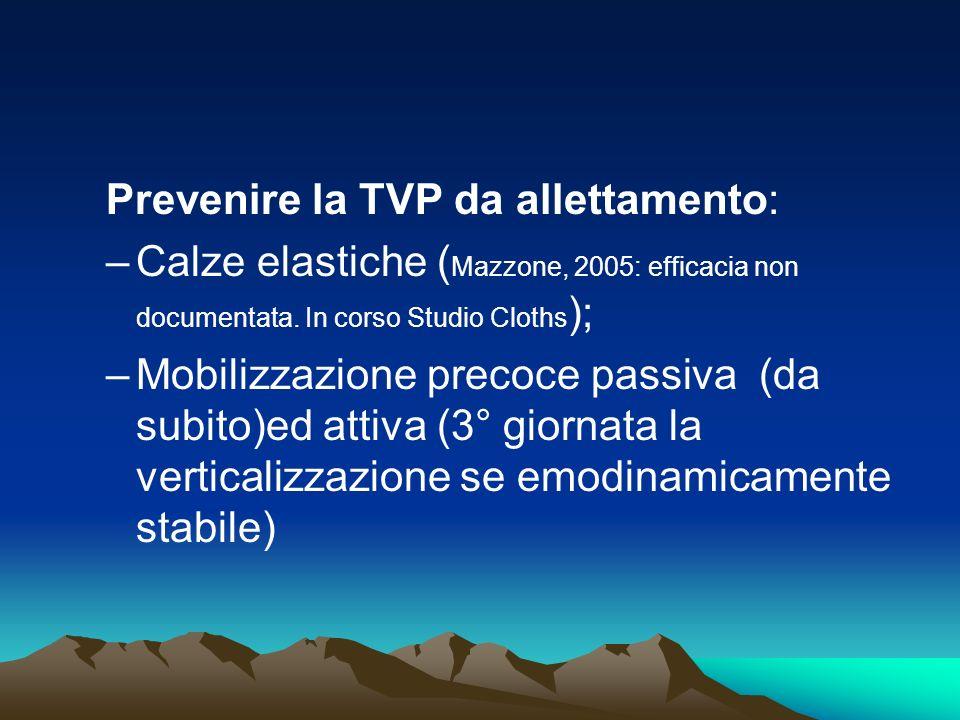 Prevenire la TVP da allettamento: