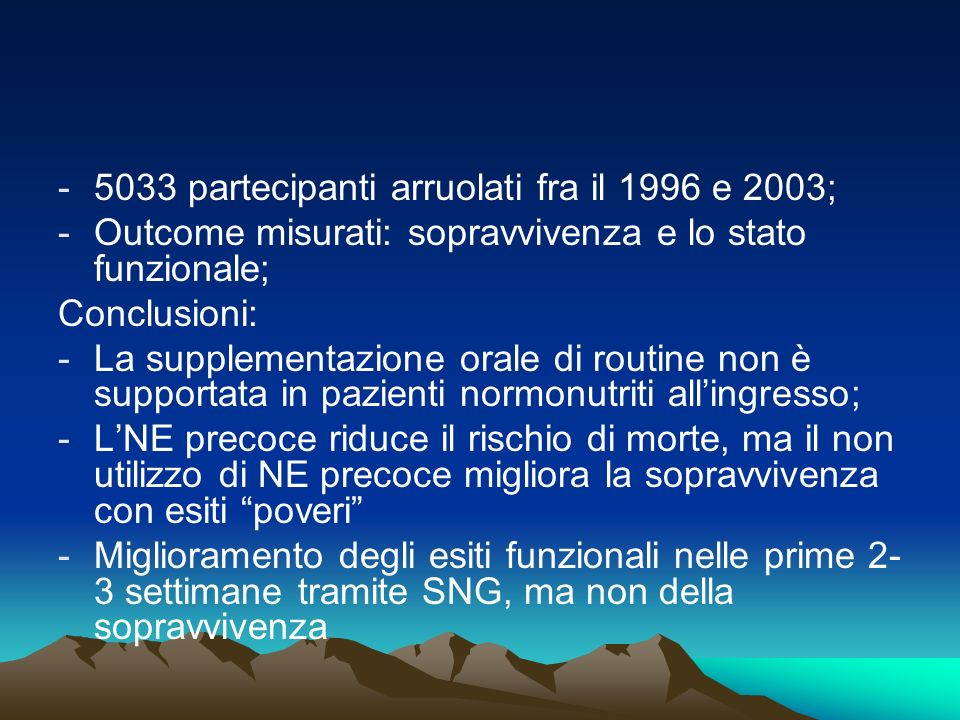 5033 partecipanti arruolati fra il 1996 e 2003;