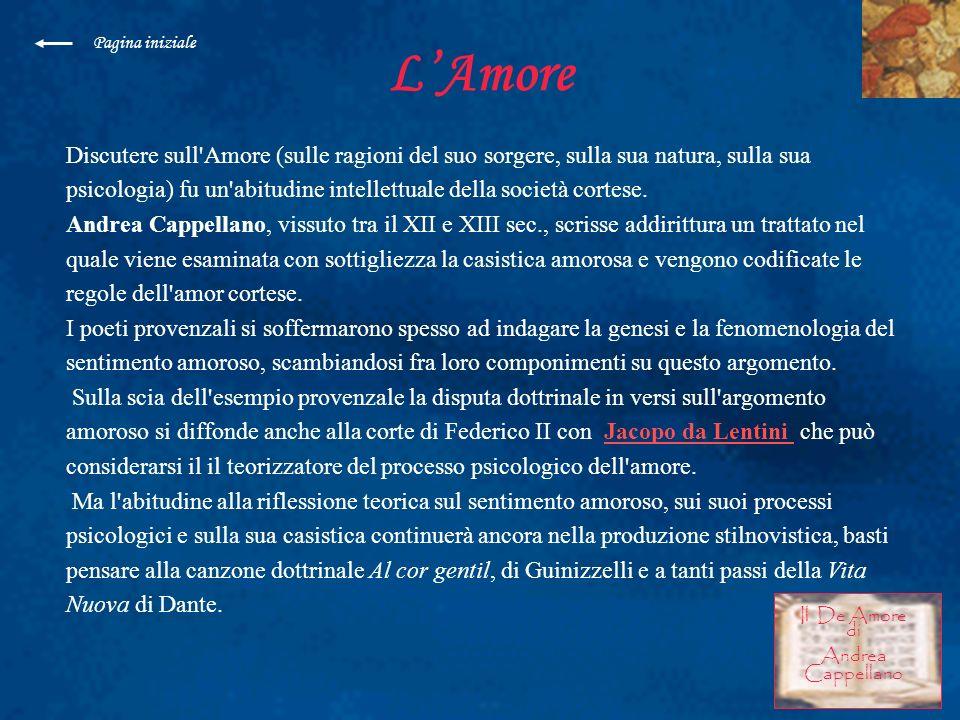 Pagina inizialeL'Amore.