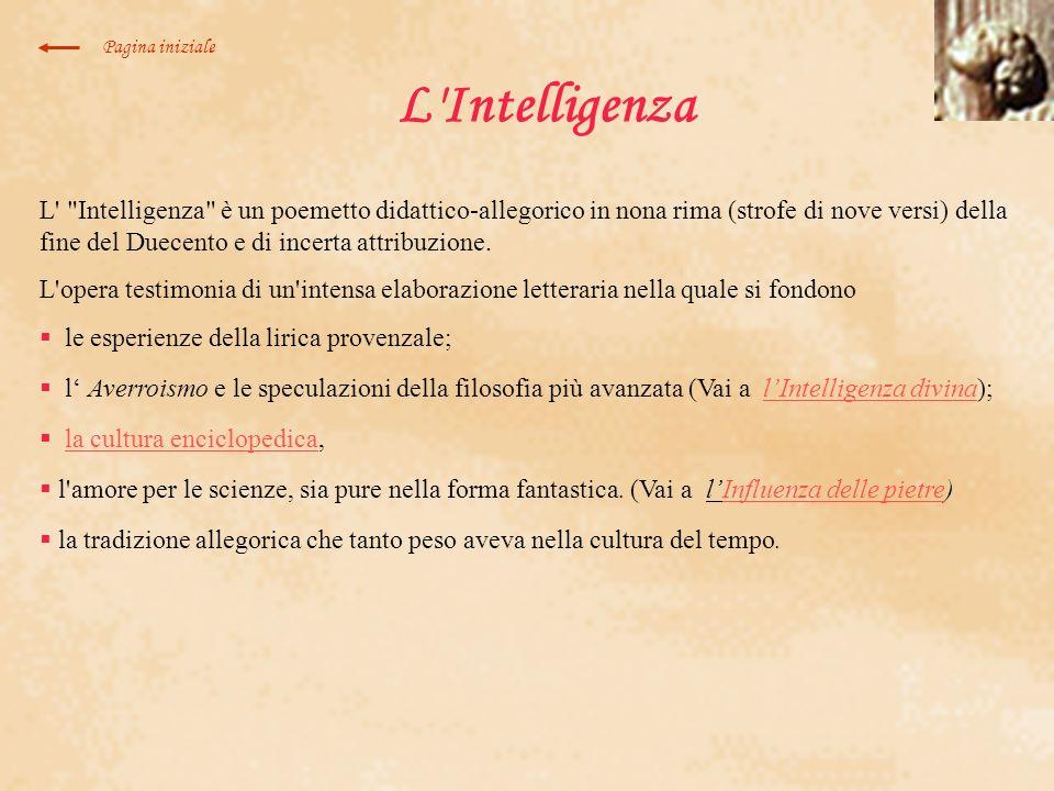Pagina inizialeL Intelligenza.
