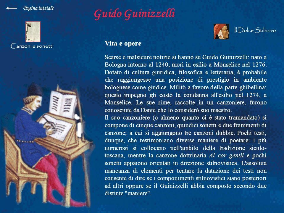 Guido Guinizzelli Vita e opere