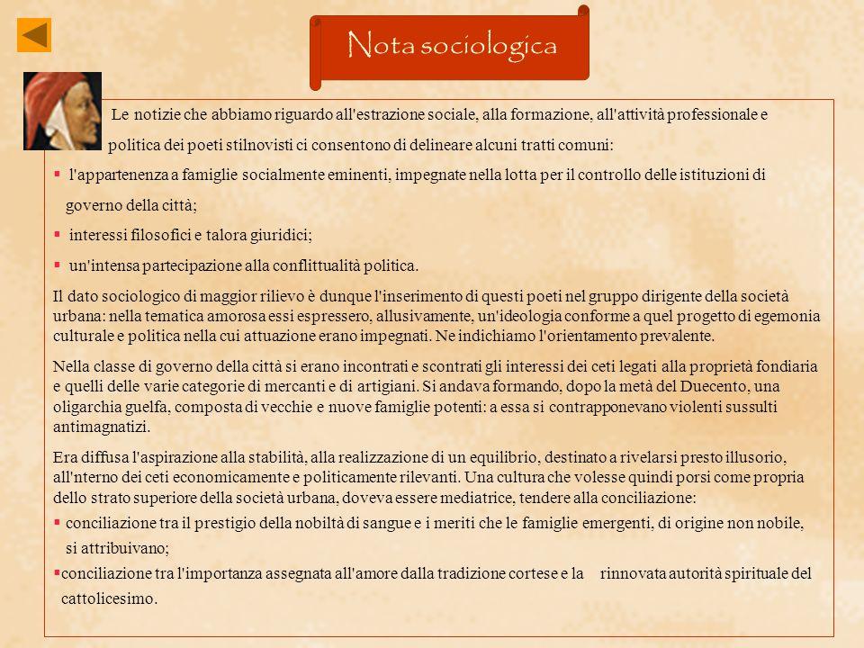 Nota sociologica Le notizie che abbiamo riguardo all estrazione sociale, alla formazione, all attività professionale e.