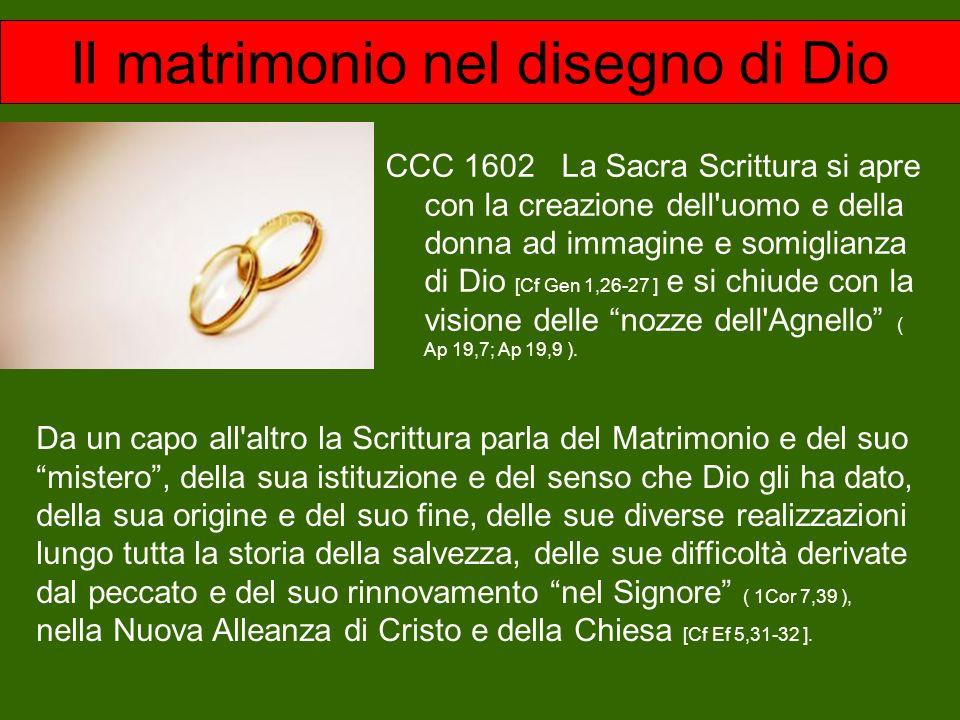 Il matrimonio nel disegno di Dio