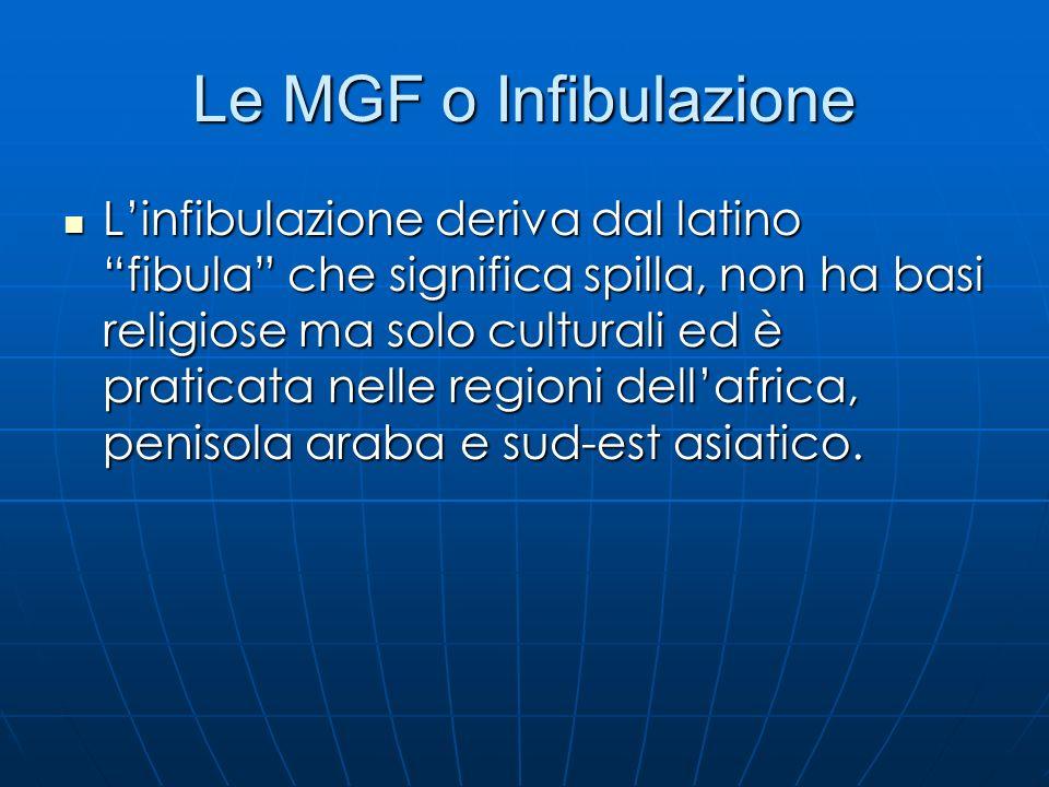 Le MGF o Infibulazione