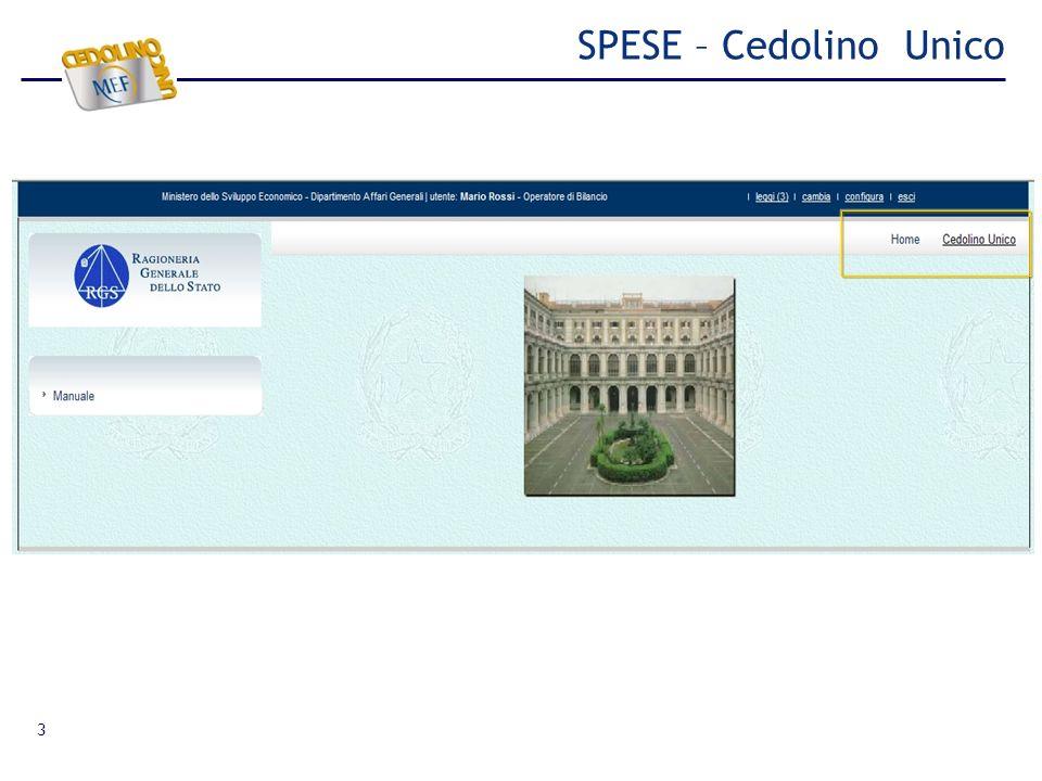 SPESE – Cedolino Unico 3