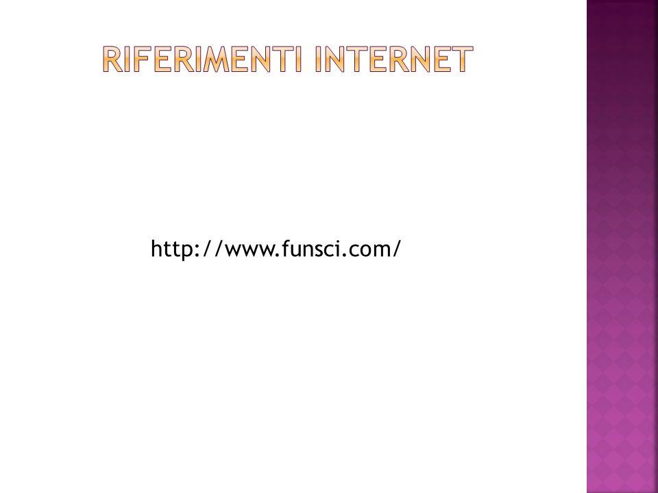 Riferimenti internet http://www.funsci.com/