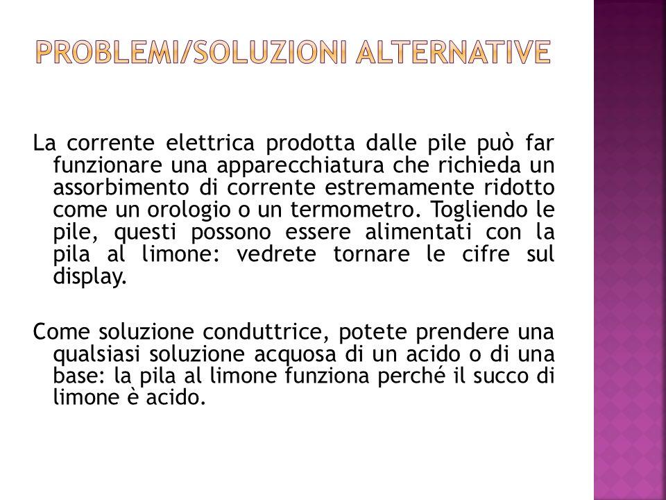Problemi/soluzioni alternative